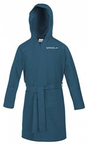 Speedo Bathrobe Microfiber Junior Navy