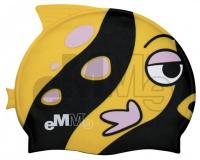 Detská čiapočka pre plavcov Emme čierno-žltá ryba