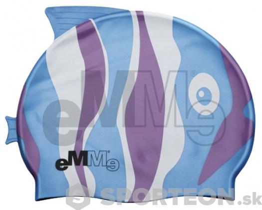 Detská plavecká čiapočka Emme modro-fialová ryba