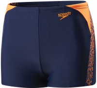 Speedo Boom Splice Aquashort Boy Navy/Fluo Orange
