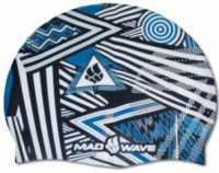 Plavecká čiapka Mad Wave Stripes Silicone