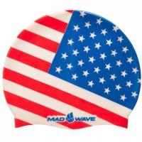Mad Wave USA Swim Cap