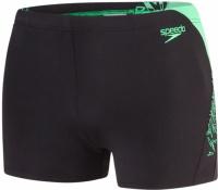 Speedo Boom Splice Aquashort Black/Fake Green