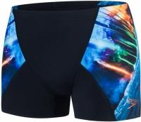 Speedo Placement Digital V Aquashort Solardive Black/Turquoise
