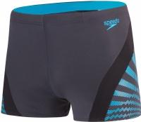 Speedo Chevron Splice Aquashort Oxid Grey/Black/Windsor Blue