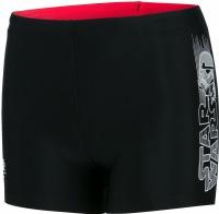 Speedo Contrast Waistband Aquashort Boy Trooper Logo Black/White/Risk Red