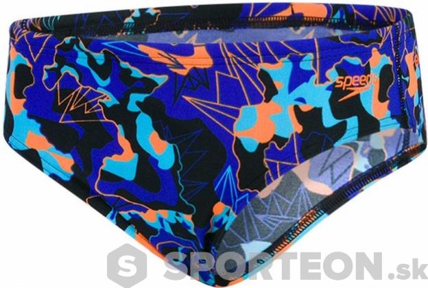 Speedo Lava Dive Allover 6.5cm Brief Boy Black/Amparo Blue/Fluo Orange