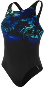 Speedo SwirlyAqua Placement Recordbreaker Black/Brilliant Blue/Aquasplash/Chroma Blue