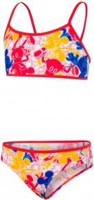 Speedo Disney Mickey Mouse Allover 2 Piece Girl Blue/Red/Yellow/White