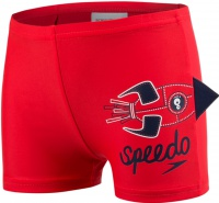 Speedo Applique Aquashort Boy Risk Red/Navy/White