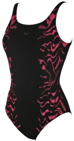 Arena Jessica Wing Back One Piece C-Cup Black/Red