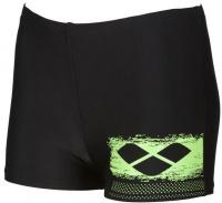 Arena Scratchy Short Junior Black/Shiny Green