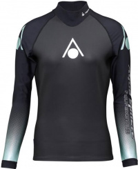 Aqua Sphere Aquaskin Top Long Sleeve Women Black/Turquoise