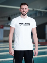 Swimaholic Life Is Cool In The Pool T-Shirt Men White