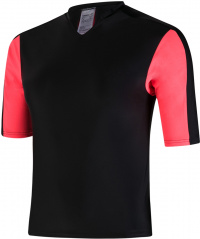 Speedo Hydractive Rash Top Black/Psycho Red/Oxid Grey