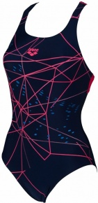 Arena Brilliance Swim Pro Back One Piece Navy/Freak Rose