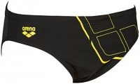 Arena Essentials Brief Black/Yellow Star