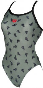 Arena Cactus Challenge Back One Piece Army/Black