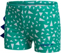 Speedo Corey Croc Allover Applique Aquashort Infant Boy Emerald/Beautiful Blue/White
