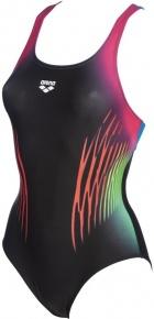 Arena Multicolour Webs Swim Pro Back One Piece Black/Turquoise