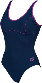 Arena Tania Clip Back One Piece Navy/Provenza