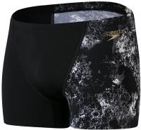 Speedo Allover V-Cut Aquashort Black/USA Charcoal/White