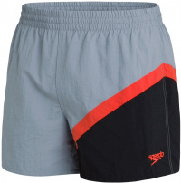 Speedo Colourblock 14 Watershort Shark Grey/Black/Volcanic Orange