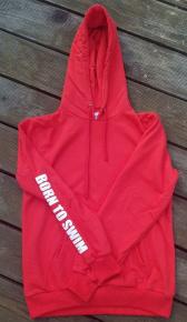 BornToSwim Sweatshirt Hoodie Red