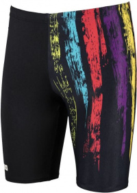 Arena Team Painted Stripes Jammer Black/Multi Yellow