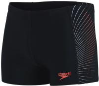 Speedo Tech Panel Aquashort Black/Lava Red/Oxid Grey